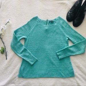 American Eagle Seafoam Green Zipper Sweater